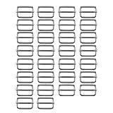 Xinlie Hebillas Metálicas Hebillas Deslizantes de Metal Diapositivas Rectangulares Ajustables Hebilla Lateral Deslizador de Cinta Triglide para Sujetadores, Correas, Accesorios de Bricolaje(30PCS)