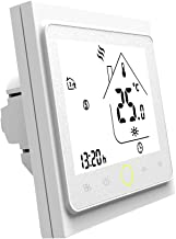 Docooler 3A Water Heating Thermostat with Touchscreen LCD Display Energy Saving Smart Thermostat Temperature Controller