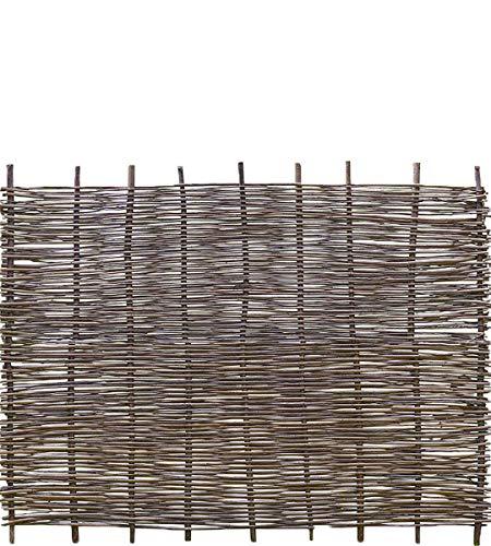 Weidenprofi Robinienzaun Baldo Stabil - Sichtschutz Naturzaun aus Robiniengeflecht - Größe (BxH) 180 x 120 cm