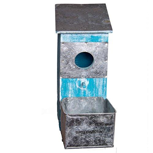 Nature by Kolibri nestkast, vogelhuis, nestholle hout, vintage blauw