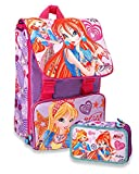 Winx CLUB - Pack Zaino Estensibile + Astuccio 3 Zip