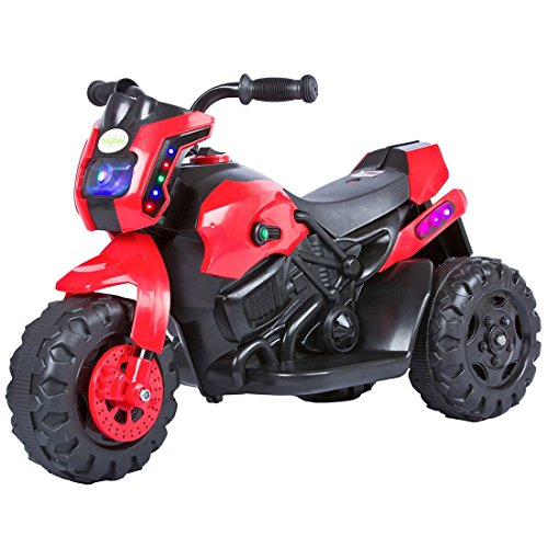 Baybee Damned GS-800 Battery Operated Sports Bike | Single Motor Ride On Bike with 20 Kg Weight Capacity -- Red
