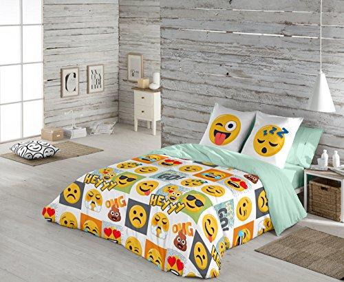 Emoji S2802720 Funda Nórdica Hey, Tamaño Cama de 105, 180 X 220 + 45 Cm