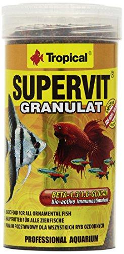 Tropical Supervit Granulado Premium alimento Principal para Todos los Peces Ornamentales, 1 Unidad (1 x 250 ml)