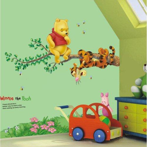 Restly Disney Winnie espace pour les pieds Line Wall Stickers de d¨¦coration de l'Ourson enfants de dessin anim¨¦