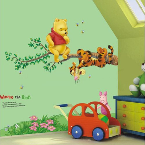 Restly (TM) Disney Winnie Camera dei Bambini Pooh Cartoon Piede Wall Stickers Linea Decor