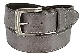 Made in Italy Full Grain Leather Casual Jeans Belt  34 Grey