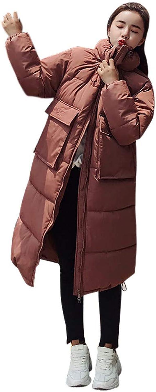 Pervobs Women Down Jacket Winter Warm Coat Thick Long Jacket Overcoat Parka