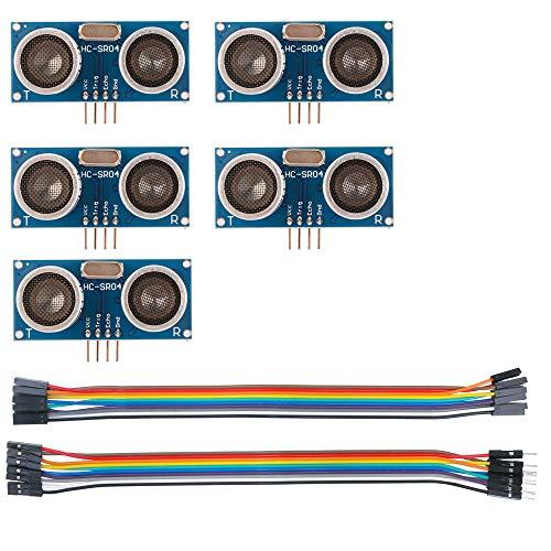 Sun3drucker 5Stk HC-SR04 Ultraschall Modul Entfernungsmesser Sensor für Arduino UNO, MEGA2560, Nano, Roboter, XBee, ZigBee, und Weitere