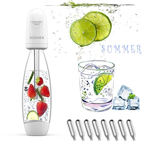 Portable Soda Water Maker Homeow Fizzi Sparkling Water Bottle SUDABA Mini Soda Machines for Homemade...
