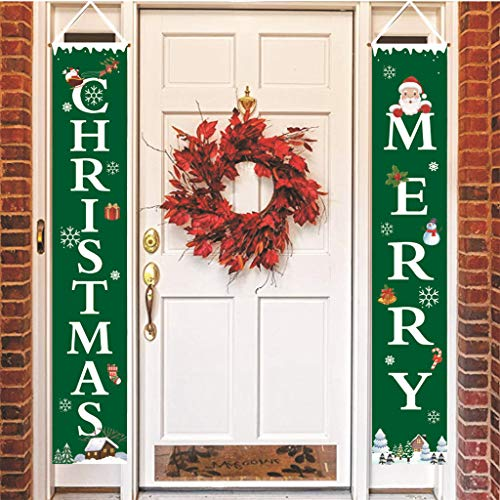 Home & Garden,Halloween & Christmas Home Decor,hahashop2 Weihnachtsvorhang-Dekorations-Tür-hängende Malerei-hängende Flaggen-Dekoration
