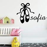 Zapatos de baile pegatinas de pared decoraciones de pared para habitación de niñas decoración de niña pegatinas de pared decorativas extraíbles A5 L 43 cm X 56 cm