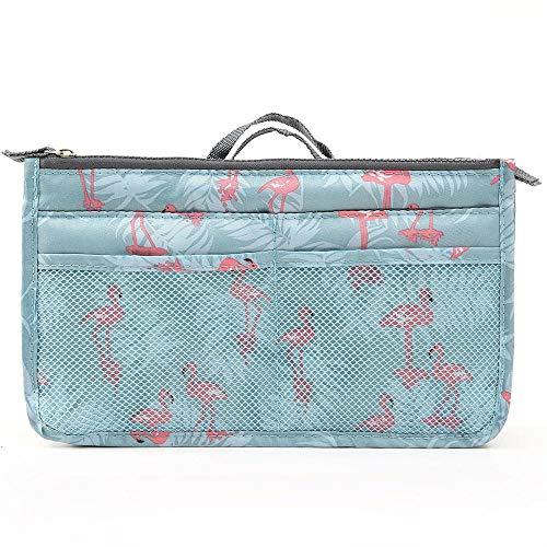 Mambmk Reismake-uptas, toilettassen, grote cosmetische hoesjes, draagbare tas met dubbele rits, opbergorganizer met handvat, multifunctionele waterdichte afwerktas voor dames, heren (Flamingo)