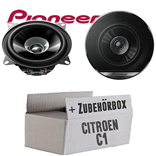 Lautsprecher Boxen Pioneer TS-G1010F - 10cm Doppelkonus 100mm PKW KFZ Auto 190W Paar Einbausatz - Einbauset für Citroen C1 - JUST SOUND best choice for caraudio