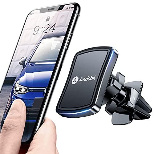 andobil Handyhalterung Auto Magnet [Upgraded Lüftungsclip und 6 Starke N52 Magnete] Magnet Handyhalterung fürs Auto Lüftung für iPhone 12/SE 2020/11/11 pro/Samsung Galaxy S20/Huawei P30 usw