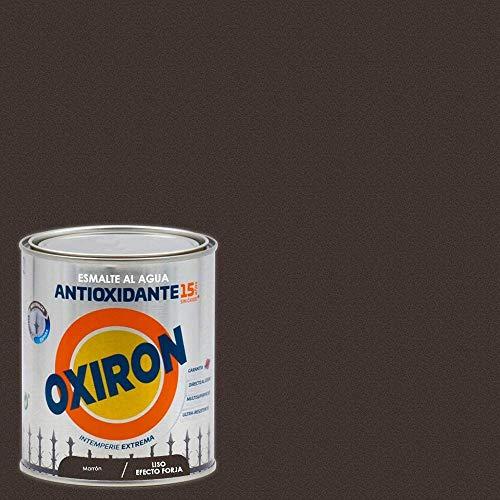 Titanlux - Esmalte antioxidante Titan Oxiron al agua Liso efecto forja, Marrón, 750ML (ref. 01E420534)