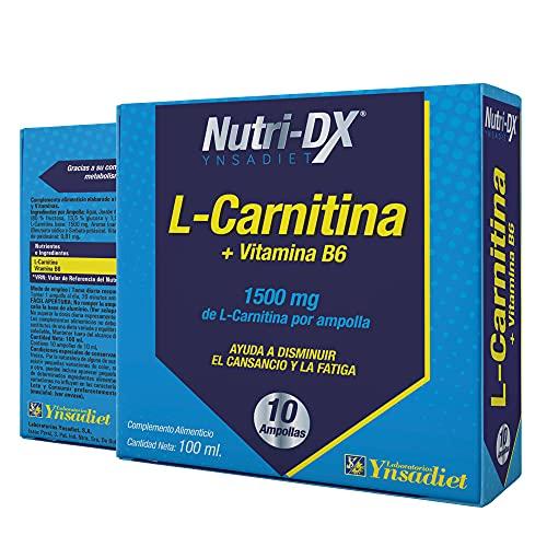 L-Carnitina Líquida 10 Ampollas| Suplemento Deportivo L-Carnitina Quemagrasas Natural Alta Concentracion| Mejora el Rendimiento y la Recuperación| Aquisana
