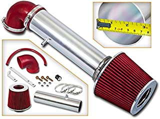 Rtunes Racing Short Ram Air Intake Kit + Filter Combo RED Compatible For 97-04 Jeep Cherokee/Grand Cherokee/LaREDo V6