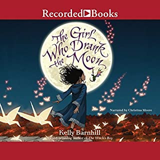 The Girl Who Drank the Moon                   By:                                                                                                                                 Kelly Barnhill                               Narrated by:                                                                                                                                 Christina Moore                      Length: 9 hrs and 31 mins     6,491 ratings     Overall 4.5