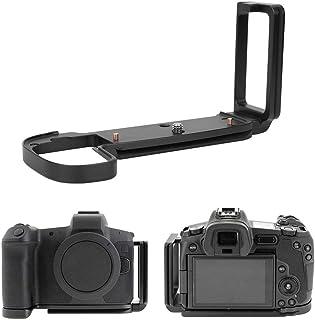 Agarre Manual de cámara de Soporte de Placa L de liberación rápida para cámara sin Espejo Canon EOS-R Agarre Manual de aleación de Aluminio Soporte de Placa de liberación rápida L(Negro)