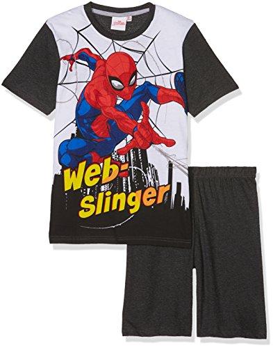 Spiderman Jungen Shorty-Pyjama - grau (140)
