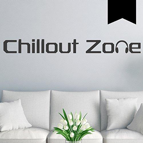 Wandkings Wandtattoo Chillout Zone 100 x 11 cm schwarz - erhältlich in 33 Farben