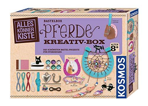 KOSMOS AllesKönnerKiste Pferde Kreativ-Box. DIY-Bastelset für Mädchen und Jungen ab 8 Jahren, das ideale Geschenk-Set für den Kindergeburtstag. Die schönsten Bastelprojekte für Pferdefans