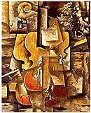 JkykppViolin abstract music landscape DIY digital painting by numbers modern wall art pintura al óleo decoración del hogar sin marco -40x50cm