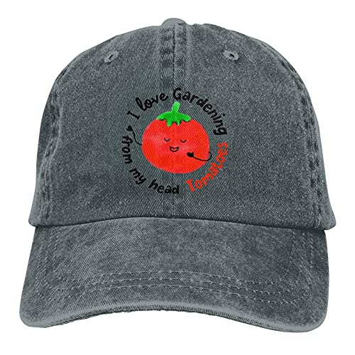 AOOEDM I Love Gardening from My Head Sombreros de tomates para hombres y mujeres, gorra de béisbol vintage Beach Dad Sun Hat Deep Heather
