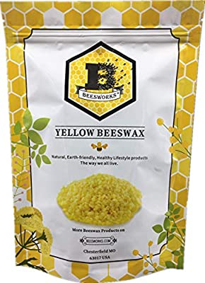 Beesworks? Beeswax Pellets, Yellow, 1lb-Cosmetic Grade-Triple Filtered Beeswax.
