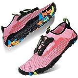 Water Shoes Mens Womens Beach Swim Shoes Quick-Dry Aqua Socks Pool Shoes for Surf Yoga Water Aerobics (E-Pink, 37)
