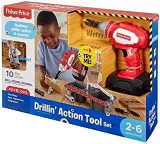 Fisher-Price Drillin - Juego de herramientas de acción