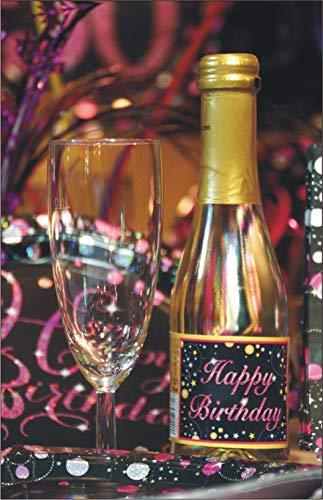 Pfeif auf's Alter Neutral im Geschenke Set für Frauen zum Geburtstag Geldgeschenk Umschlag mit Piccolo 22 Karat Blattgold gold pink lila schwarz (Pfeif aufs Alter pink 18 mit Piccolo 20214) - 6