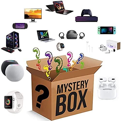 yamysalad Scatola cieca Mystery Lucky Box, Mystery Box Electronics, Scatole Mystery Casuale, Casella di Sorpresa di Compleanno, Scatola di novità per Adulti Regalo di Sorpresa, Come Tablet PC, VR. OC