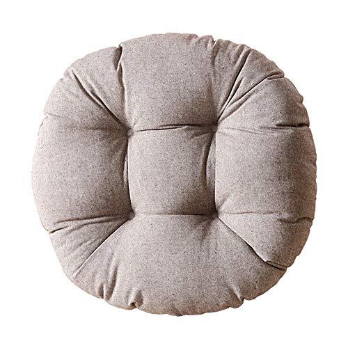 Silla de cojín redondo grande, tatami Cojín de suelo grueso asiento suave almohadillas de almohadilla para almohadas de piso para guardería Balcón ventana Sala de estar