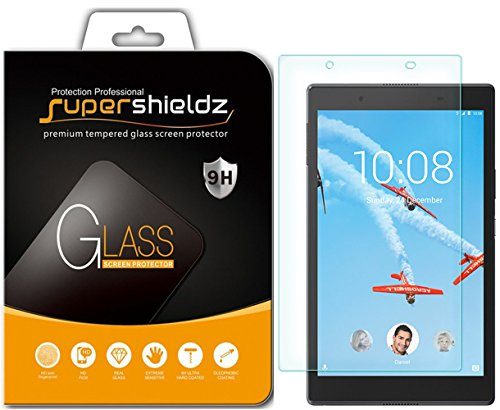 Supershieldz Designed for Lenovo Tab 4 8 (8 inch) Tempered Glass Screen Protector, Anti Scratch, Bubble Free,