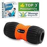 """Sportastisch Top3* Faszienrolle """"Ergo Roll"""" mit SGS-Zertifikat*, Massagerolle mit breiter Umlaufrille für ergonomische Selbstmassage der Wirbelsäule, GRATIS E-Book & bis zu 3 Jahren Garantie"""