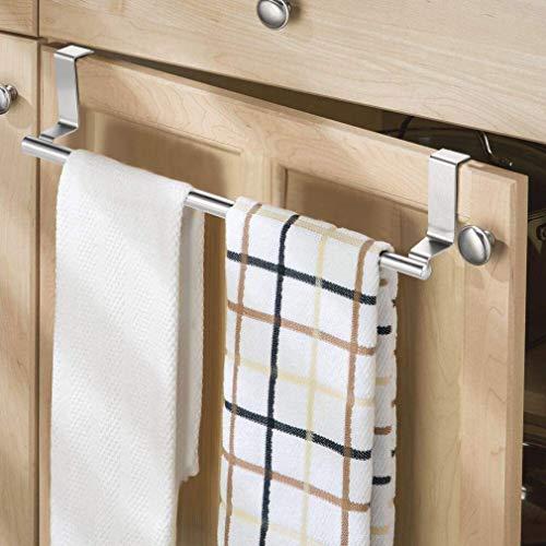KINLO Handtuchhalter ohne Bohren, Geschirrtuchhalter zum Einhängen Handtuchhalter Telekop, Länge: 22-35 cm Badetuchhalter aus Edelstahl Türhandtuchhalter Küche für Küchenschrank/Tür/Badezimmer/Küche