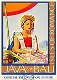 Vintage Travel Indonesien für Java und Bali. The Isles Of
