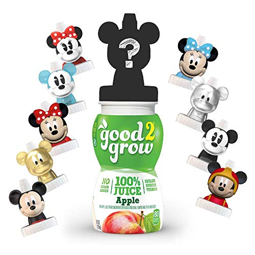 good2grow Mickey/Minnie Collector Pack 100% Apple Juice, 6-pack of 6-Ounce Spill Proof Character Top Bottles, Non-GMO with no Sugar Added...