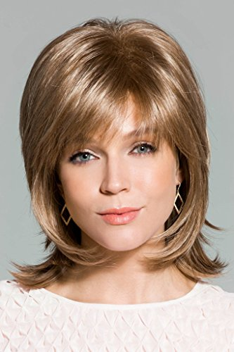 """Bailey Wig Color Ginger Brown - Rene of Paris 6.5"""" Mid Length Layered Shag Wispy Bangs Synthetic Open Weft Cap"""