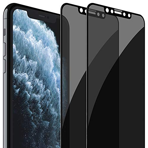 FlexGear Privacy Screen Protector for iPhone 11 Pro [Full Coverage] Tempered Glass (2-Pack)