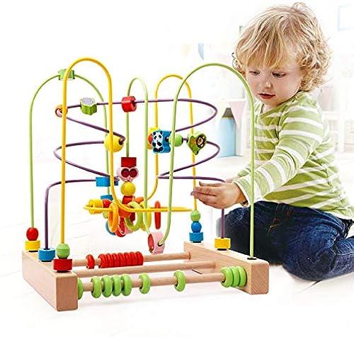 Yishelle Babyspielzeug Kreis-Korn-Labyrinth-Spielzeug-nettes Insekten-Spielzeug-Holzperlen-Achterbahn-Spiel für Kinder 3 Jahre altes mädchen Für Kind Kinder Jungen mädchen