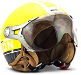 "Soxon SP-325 Plus ""Yellow"" · Jet-Helm · Motorrad-Helm Roller-Helm Scooter-Helm Bobber..."