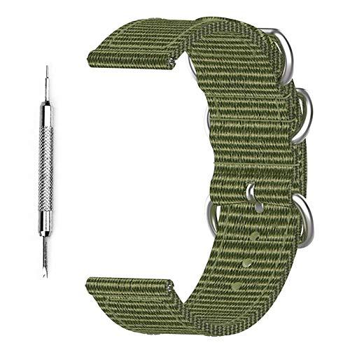 Rlevolexy Bandas compatibles con Suunto 7 Smart Watch Correa de Lona de Repuesto para Hombres y Mujeres