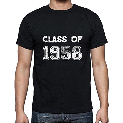 1958 Cumpleaños de 63 años, Class of, Clase de Camiseta, Divertido y Elegante Camiseta Hombre, Eslogan Camiseta Hombre, Camiseta Regalo, Regalo Hombre