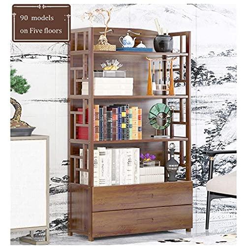 Storage Shelf Bamboo Ladder Shelf 4 Tier Bookcase Display Flower Stand Plant Ladder Storage Shelving Rack For Kitchen, Living Room, Bathroom, Garden Storage Shelf (Size : 50 * 25 * 79cm)