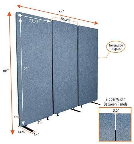 Stand-Steady-ZipPanels-Office-Partition-Room-Dividers-Three-Zip-Together-Panels-Provide-Privacy-and-Reduce-Ambient-Noise-in-Workspace-Classroom-and-Healthcare-Facilities