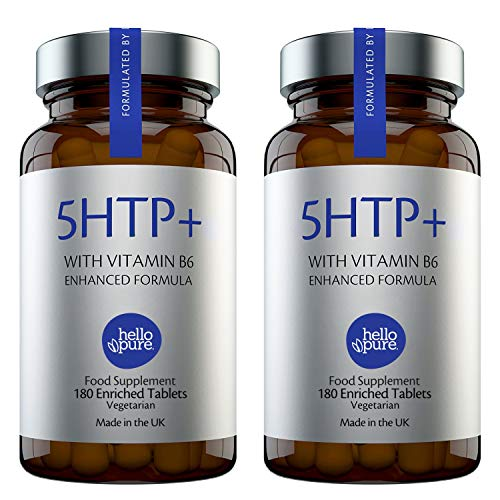 5HTP +Plus – Ultra High Strength 5 HTP – 400mg Vegan Griffonia Seed Extract Equivalent + 100% NRV Dose of Vitamin B6 – High Absorption 5-HTP Capsules Alternative Stress & Anxiety Relief (Pack of 2)