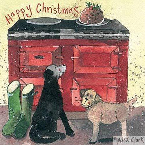 Alex Clark tarjetas navideñas Navidad Hotdog Pack de 5: Amazon.es: Oficina y papelería